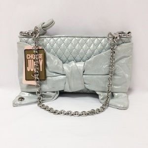 Juicy Couture Flair Polka Do Mint Green Bow Clutch